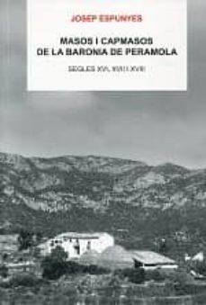 Emprende2020.es Masos I Capmasos De La Baronia De Peramola. Segles Xvi, Xvii I Xviii Image