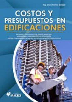 costos y presupuestos en edificaciones-jesus ramos-9786123042820