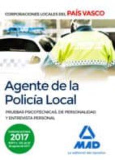 agente de la policía local del país vasco. pruebas psicotécnicas, de personalidad y entrevista personal-9788414209820