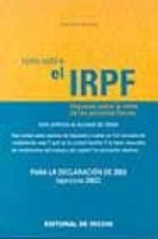 Premioinnovacionsanitaria.es Todo Sobre El Irpf: Para La Declaracion De 2003 Image