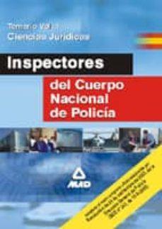 Elmonolitodigital.es Inspectores Del Cuerpo Nacional De Policia: Temario: (Vol. I): Ci Encias Juridicas Image