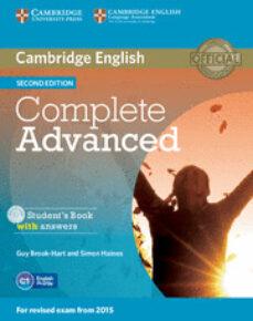 Descargar COMPLETE ADVANCED STUDENT S BOOK PACK ) 2ND EDITION gratis pdf - leer online