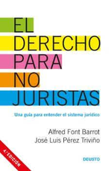 derecho para no juristas-alfred font barrot-jose luis perez triviño-9788423427130