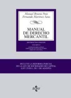 Bressoamisuradi.it Manual De Derecho Mercantil Vol. Ii. Contratos Mercantiles. Derec Ho De Los Titulos Valores. Derecho Concursal (18ª Ed.) Image