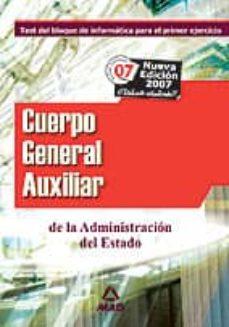Titantitan.mx Cuerpo General Auxiliar De La Administracion Del Estado. Test Del Bloque De Informatica Para El Primer Ejercicio Image