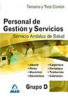 Viamistica.es Personal De Gestion Y Servicios Del Servicio Andaluz De Salud. Sa S. Grupo D. Temario Y Test Parte Comun Image