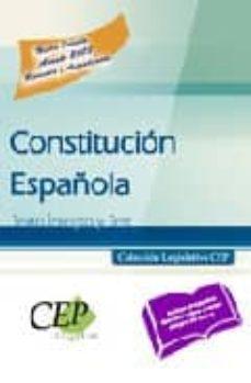 Javiercoterillo.es Constitucion Española.texto Integro Y Test. (Coleccion Legislativ A Cep) Image