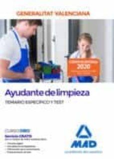Garumclubgourmet.es Ayudante De Limpieza De La Administración De La Generalitat Valenciana. Temario Específico Y Test Image