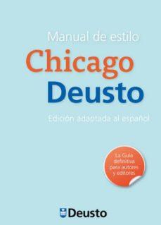 Descargar MANUAL DE ESTILO CHICAGO-DEUSTO gratis pdf - leer online