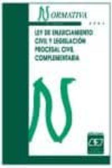 Permacultivo.es Ley De Enjuiciamiento Civil Y Legislacion Procesal Civil Compleme Ntaria (8ª Ed.) Image