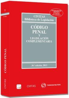Ironbikepuglia.it Codigo Penal Y Legislacion Complementaria 2013 Formato Duo (39ª Ed) Image