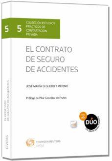 contrato de seguro de accidentes-jose maria elguero y merino-9788447045440