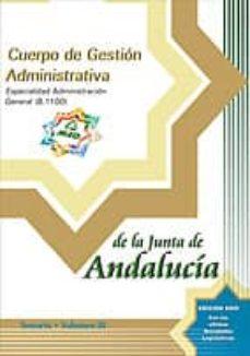 Ojpa.es Cuerpo De Gestion Administrativa De La Junta De Andalucia: Especi Alidad Administracion General (B1100): Temario (Vol. Iii) Image