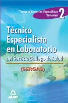Curiouscongress.es Tecnico Especialista En Laboratorio (Sergas). Vol.ii. Temario Materias Especificas Image