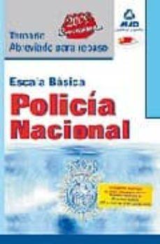 Cdaea.es Escala Basica De Policia Nacional: Temario Abreviado Para Repaso. Image