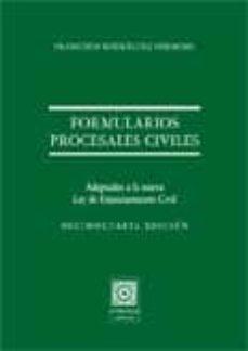 Geekmag.es Formularios Procesales Civiles: Adaptados A La Nueva Ley De Enjui Ciamiento Civl (14ª Ed.) Image