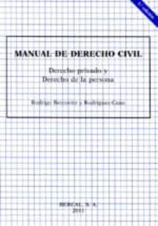 Valentifaineros20015.es Manual De Derecho Civil Derecho Privado Y Derecho De La Persona Image