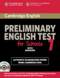 Libros electrónicos gratis para teléfonos para descargar CAMBRIDGE PET FOR SCHOOLS 1: STUDENT S BOOK WITH ANSWERS