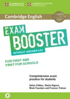 Descargas de libros de texto de audio CAMBRIDGE ENGLISH EXAM BOOSTER FOR FIRST (FCE) & FIRST FOR SCHOOLS (FCE4S) WITHOUT ANSWER KEY WITH AUDIO DOWNLOAD de  9781316641750