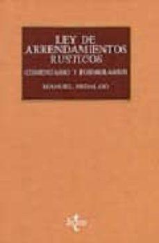 Garumclubgourmet.es Arrendamientos Rusticos, Camaras Agrarias Y Legislacion Complemen Taria (10ª Ed.) Image