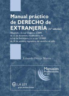 manual práctico de derecho de extranjería (ebook)-eduardo ortega martin-9788481268850