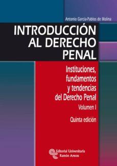 introducción al derecho penal (ebook)-antonio garcia-pablos de molina-9788499619750