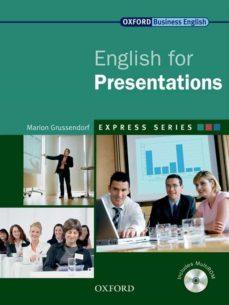Descargas de mobi ebook ENGLISH FOR PRESENTATIONS de  en español