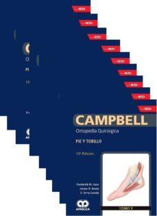 Descarga gratuita de libros electrónicos en j2me CAMPBELL ORTOPEDIA QUIRURGICA (9 VOLS. + E-BOOK Y VIDEOS) de AZAR PDB PDF 9781852694760