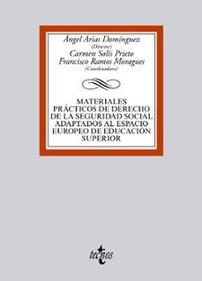 materiales prácticos de derecho de la seguridad social adaptados al espacio europeo de educacion superior-9788430959860