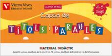 Lofficielhommes.es Títols I Paraules Lletra De Pal (4-5 Anys) Infantil Cat Image