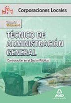 Valentifaineros20015.es Tecnico De Administracion General De Corporaciones Locales. Volum En Iv. Contratacion En El Sector Publico Image
