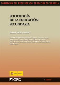 Descargar SOCIOLOGIA DE LA EDUCACION SECUNDARIA gratis pdf - leer online