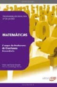 Inmaswan.es Cuerpo De Profesores De Enseñanza Secundaria. Matematicas. Progra Macion Didactica (4º Eso) Image