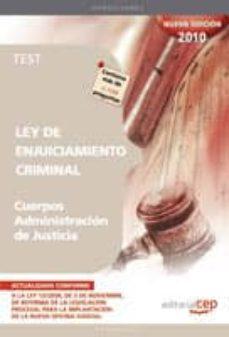 Inciertagloria.es Test Ley De Enjuiciamiento Criminal. Cuerpos Administracion De Ju Sticia Image