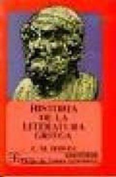 historia de la literatura griega-cecile maurice bowra-9789681603960