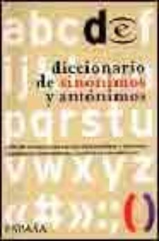 Premioinnovacionsanitaria.es Diccionario Espasa De Sinonimos Y Antonimos (7ª Ed.) Image