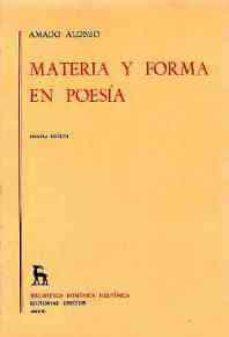 Javiercoterillo.es Materia Y Forma En Poesia (3ª Ed.) Image