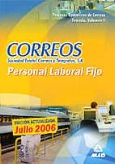 Permacultivo.es Procesos Operativos De Correos: Personal Laboral Fijo: Temario (V Ol. Ii) Image