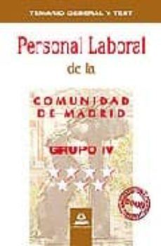 Lofficielhommes.es Personal Laboral De La Comunidad De Madrid. Grupo Iv. Temario Gen Eral Y Test Image