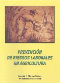 Descargar kindle books en pdf PREVENCION DE RIESGOS LABORALES EN AGRICULTURA de ANTONIO JOSE MORENO GONZALEZ, MARIA EULALIA LOBATO GARCIA