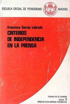 Javiercoterillo.es Criterios De Independencia En La Prensa Image