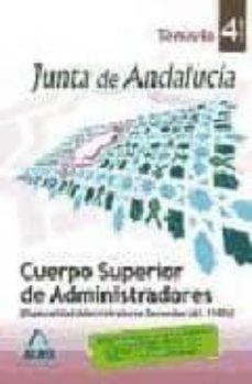 Cdaea.es Cuerpo Superior De Administradores (Esp.administracion General) De La Junta De Andalucia. (A1.1100). Temario. Volumen Iv Image