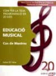 Inmaswan.es Cos De Mestres. Educacio Musical. Com Fer La Teva Programacio En 25 Dies Image
