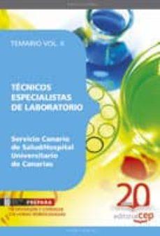 Valentifaineros20015.es Tecnicos Especialistas De Laboratorio Del Servicio Canario De Sal Lud/hospital Universitario De Canarias: Temario Vol. Ii. Image