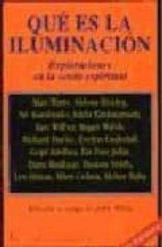 que es la iluminacion: exploraciones en la senda espiritual (3ª e d.)-alan (1915-1973) et al. watts-9788472452480