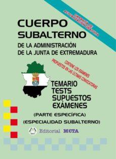 SUBALTERNO PARTE ESPECÍFICA (TEMARIO-TESTS-SUPUESTOS) - VV.AA. | Triangledh.org