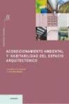 acondicionamiento ambiental y habitabilidad del espacio arquitect onico-9788489150980