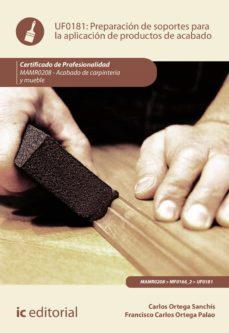 preparación de soportes para la aplicación de productos de acabado. mamr0208 (ebook)-9788491984580