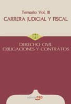 Viamistica.es Carrera Judicial Y Fiscal. Derecho Civil. Obligaciones Y Contrato S. Temario Vol. Iii. Image