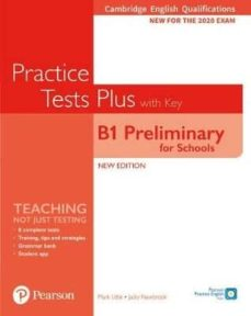 Descargar libros gratis en kindle CAMBRIDGE ENGLISH QUALIFICATIONS: B1 PRELIMINARY FOR SCHOOLS PRACTICE TESTS PLUS STUDENT in Spanish de  RTF iBook